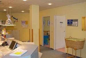 Eingangsbereich Kinderarztpraxis Dr. med. Petra Müller
